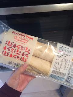 part baked baguette
