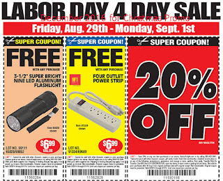 free Harbor Freight coupons for december 2016