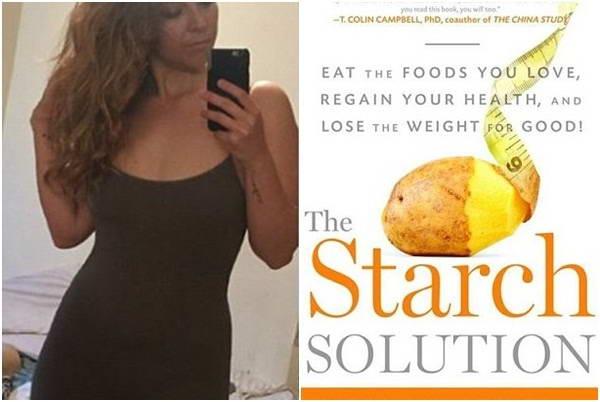 Cô gái giảm 27kg nhờ phương pháp ăn kiêng giàu tinh bột