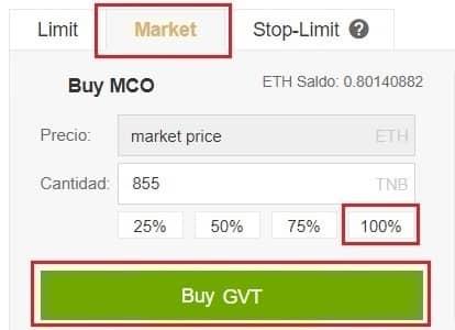 Comprar Moneda Genesis Vision (GVT) y Guardar Monedero Guía