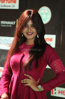 Monal Gajjar in Maroon Gown Stunning Cute Beauty at IIFA Utsavam Awards 2017 053.JPG