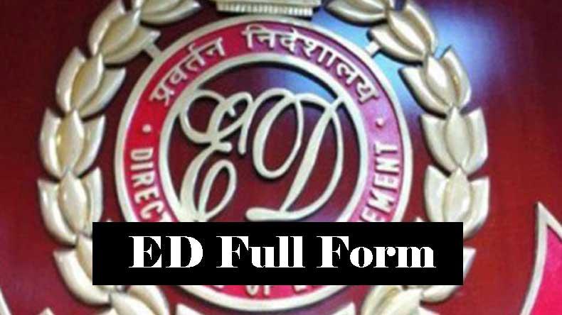 ED KA FULL FORM IN HINDI