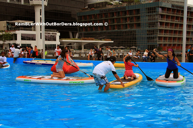 Stand-up paddle-boarding, DBS Marina Regatta 2015, Singapore