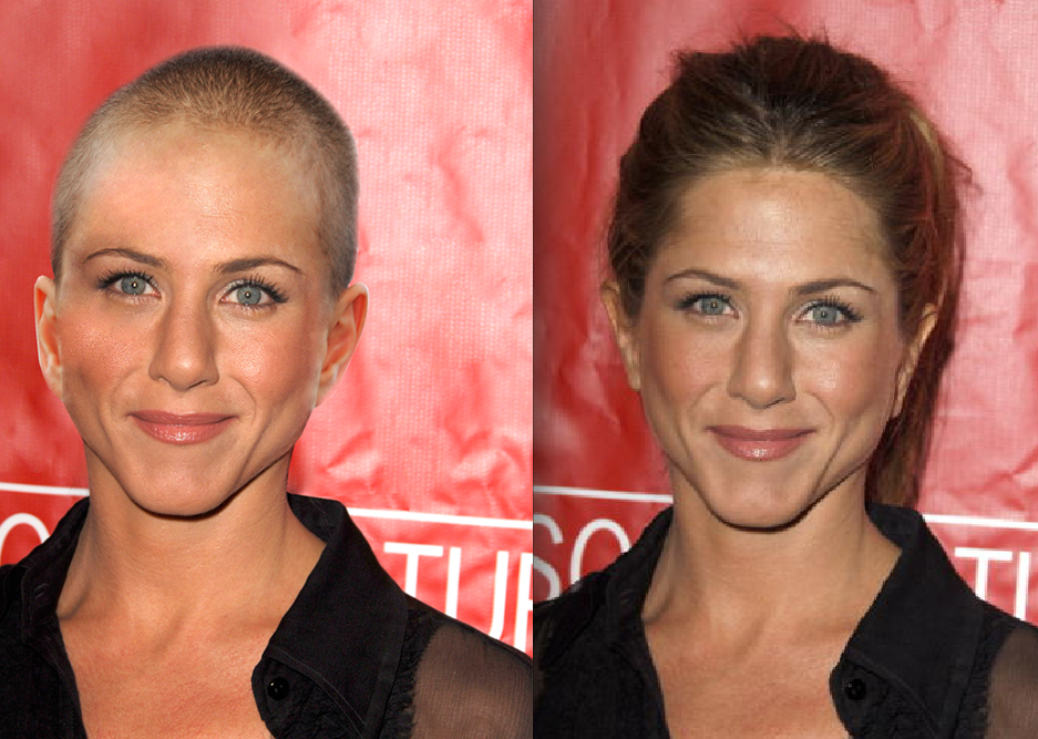 aniston shaved Jennifer