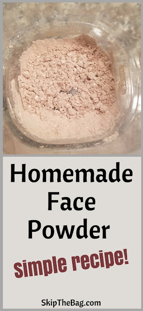 Homemade Face Powder. Simplest recipe in the world and it works!