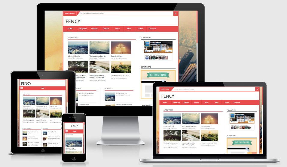 Fency - Responsive News and Magazine Blogger template