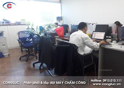 Lắp máy chấm công tại công ty khai thác và quản lý tàu vtd