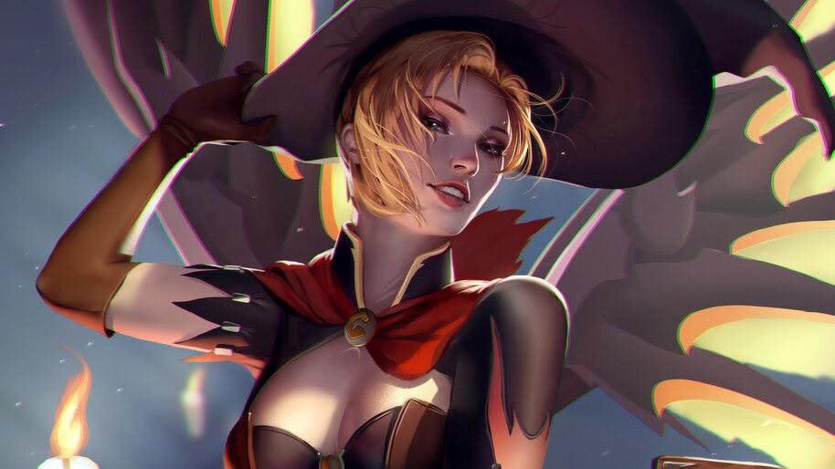 Mercy Witch Overwatch 4k Wallpaper 378