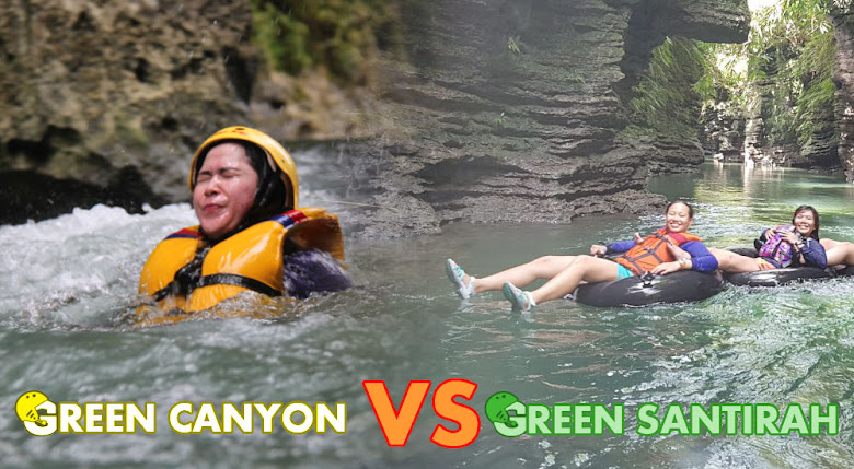 Body Rafting Green Canyon VS River Tubing Green Santirah