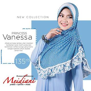 Jilbab Polkadot Princess Vanessa