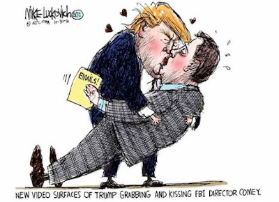 Trump Kisses Comey