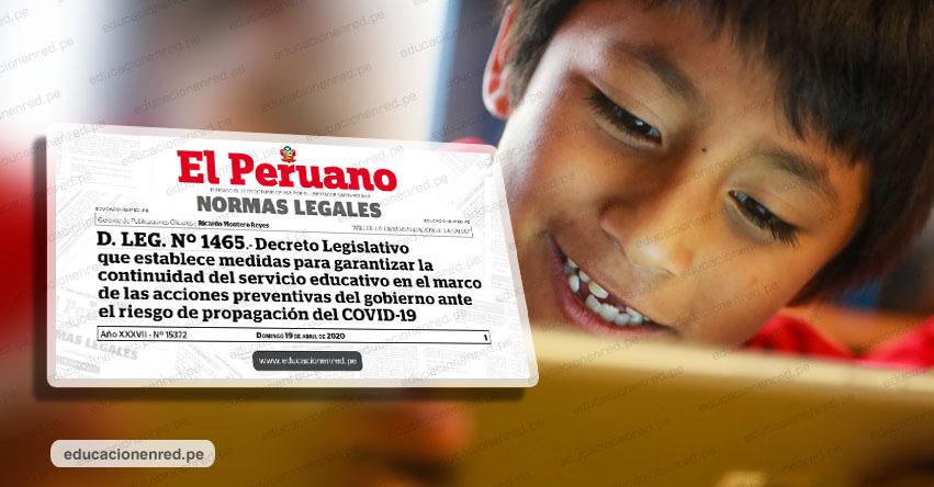 YA ES OFICIAL compra de tablets para escolares en situación de pobreza (D. Leg. N° 1465)