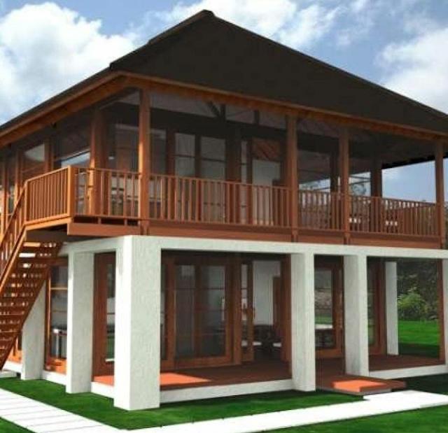 model rumah papan modern