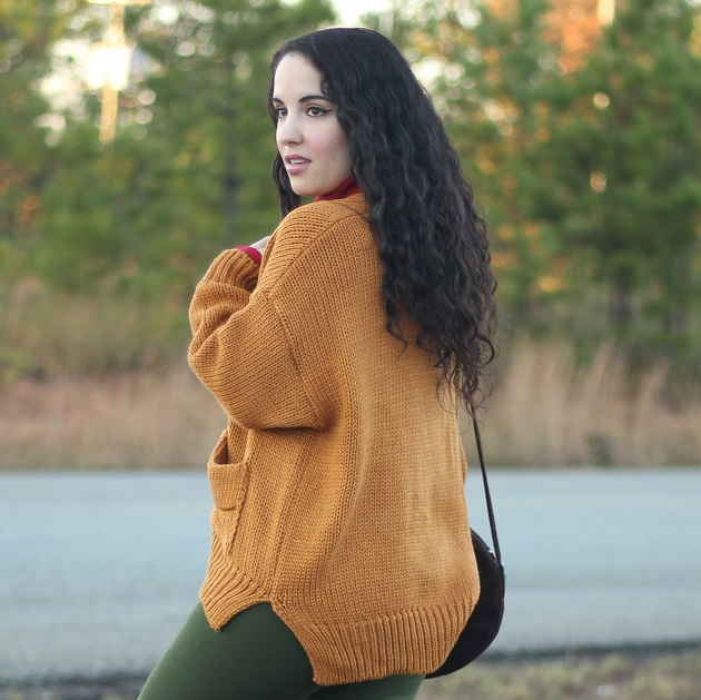 Kooding Oversized Fall Orange Sweater