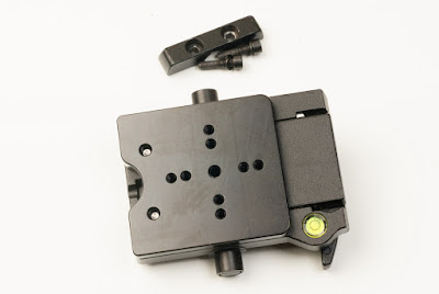 M400 adapter plate on Manfrotto 400 QR mounting platform top view - fixed