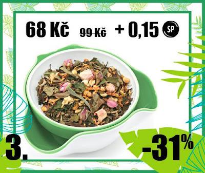 """50 g """"Růženčino procitnutí"""" - aromat. zelený čaj"""