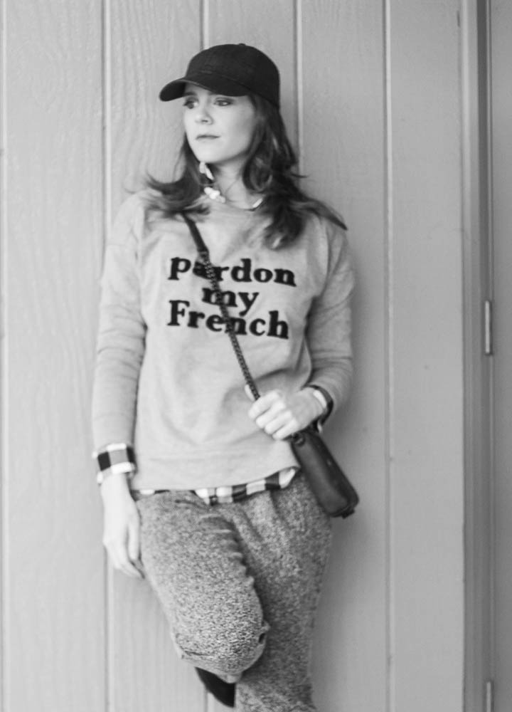 pardon my french sweatshirt outfit