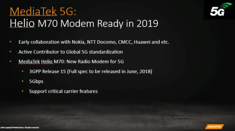 Computex 2018: MediaTek announces M70, a 5G modem with up to 5Gbps download speed!