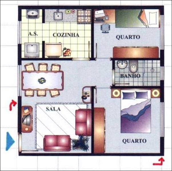 casa dois quartos