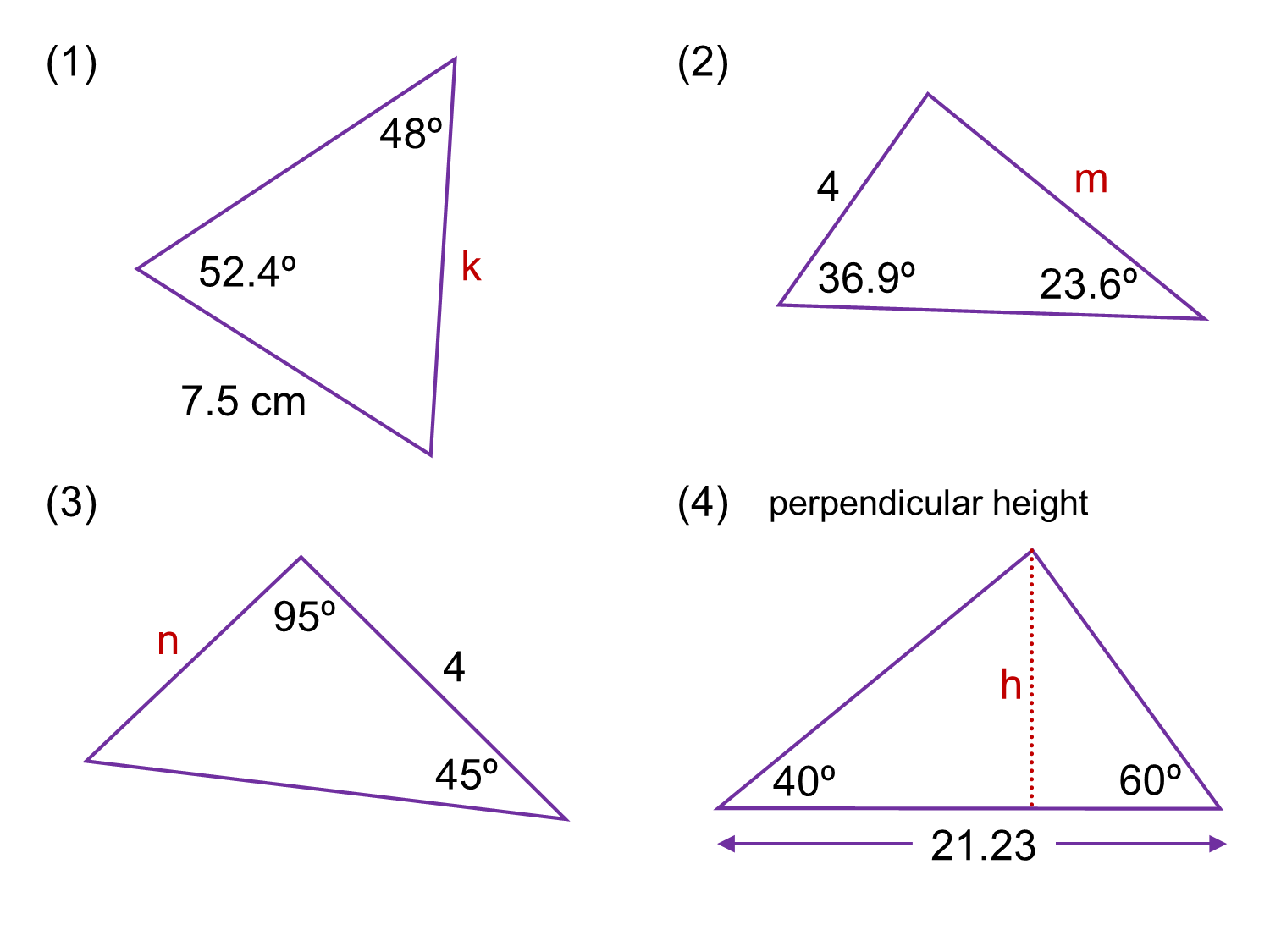Median Don Steward Mathematics Teaching Sine Rule