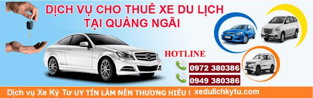 Dịch vụ cho thuê xe du lịch tại Quảng Ngãi giá rẻ
