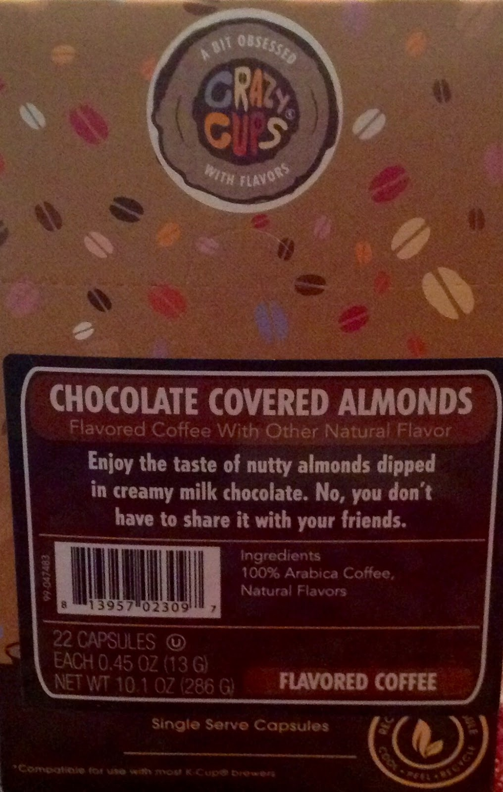 Cassandra M S Place Crazy Cups Chocolate Covered Almonds