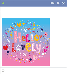 Hello Lovely Facebook Sticker