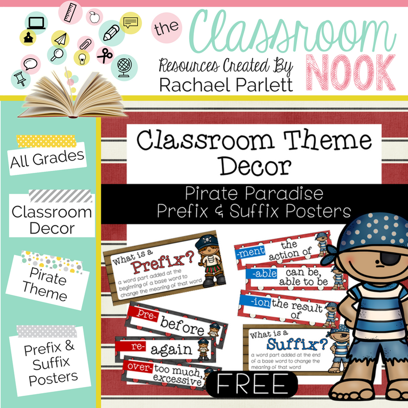 Create a pirate themed classroom with these printable decor essentials