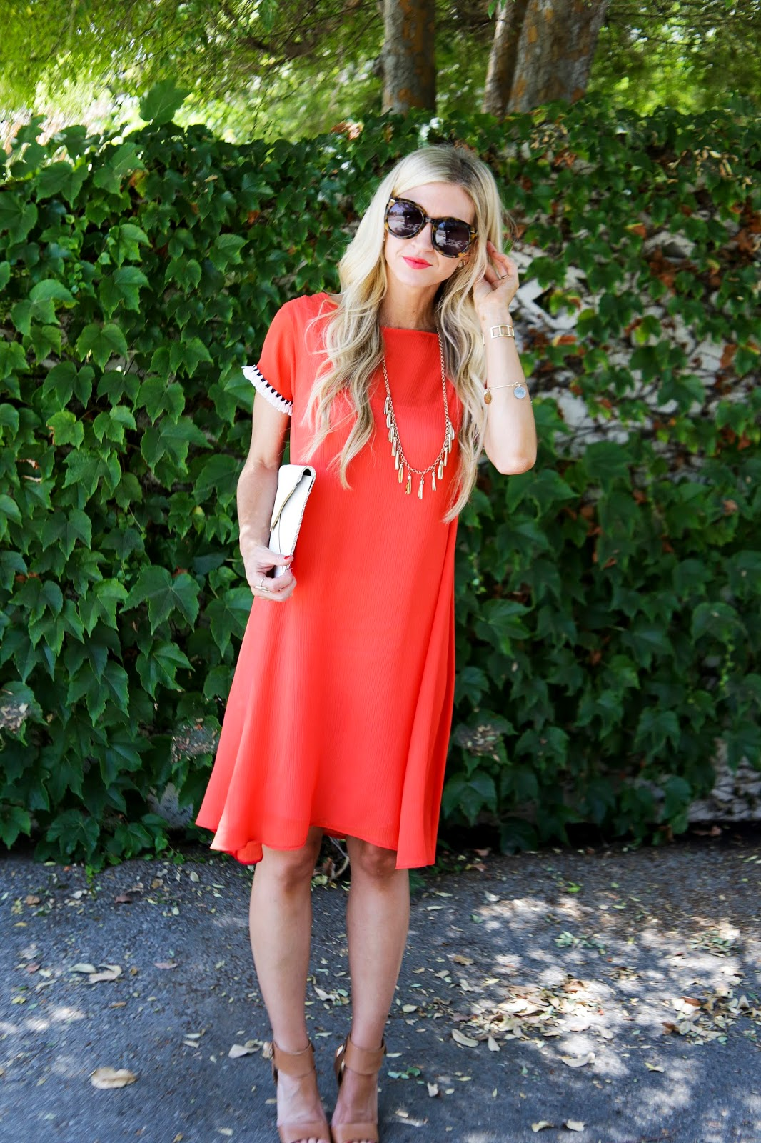 RED SWING TASSEL DRESS TUTORIAL