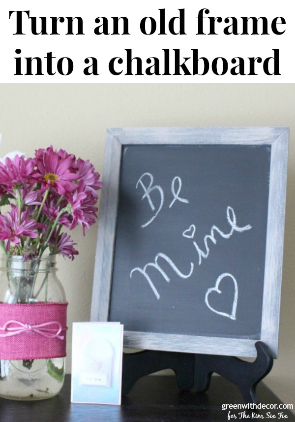 Turn an old thrift store frame into a distressed chalkboard - The ...