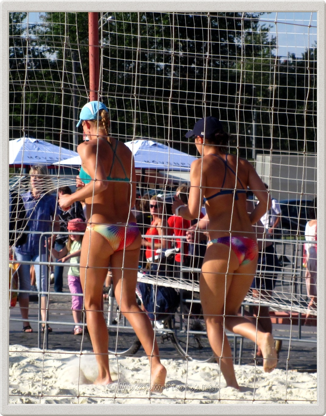 Beach Volleyball Girls at Practice Court