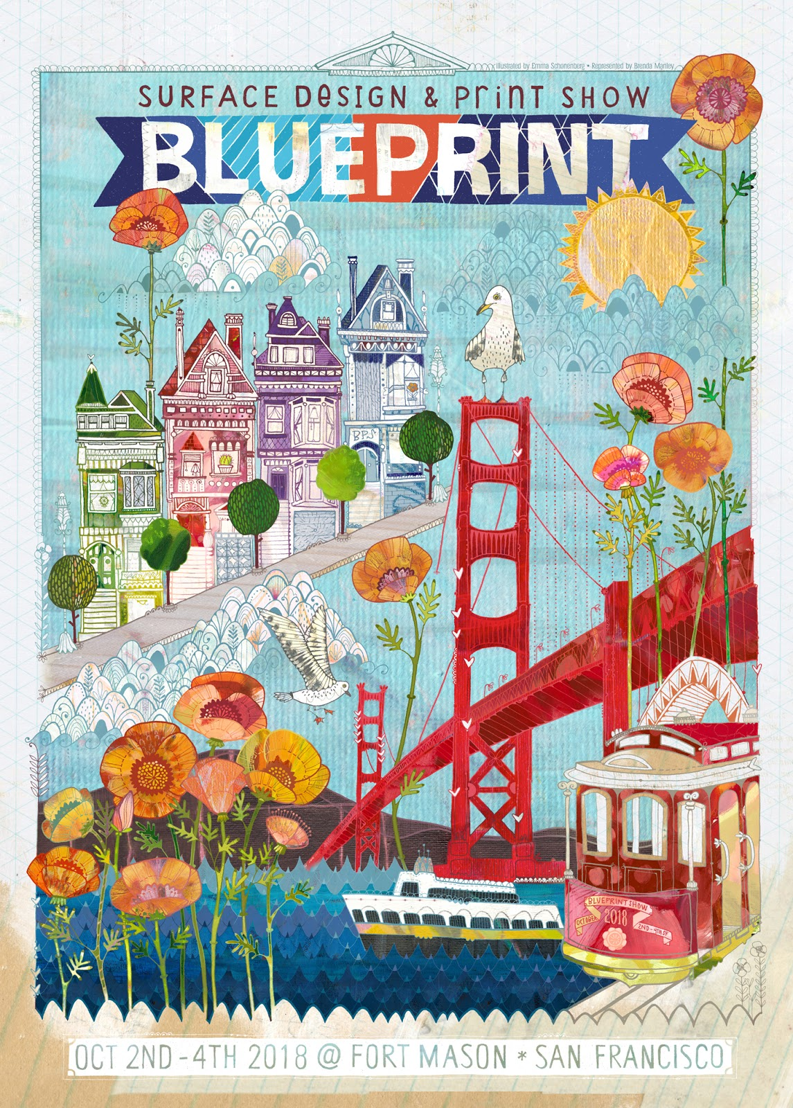 Blueprint show emma schonenberg at brenda manley designers has designed an amazing poster for the san francisco in october 2018 malvernweather Choice Image