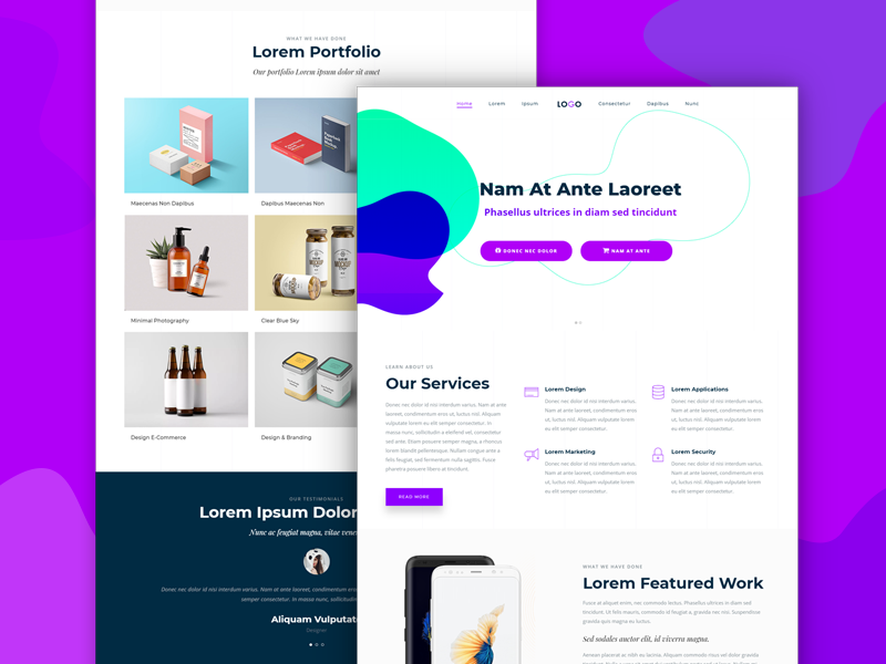 Best Free Websites Design Templates For Designers