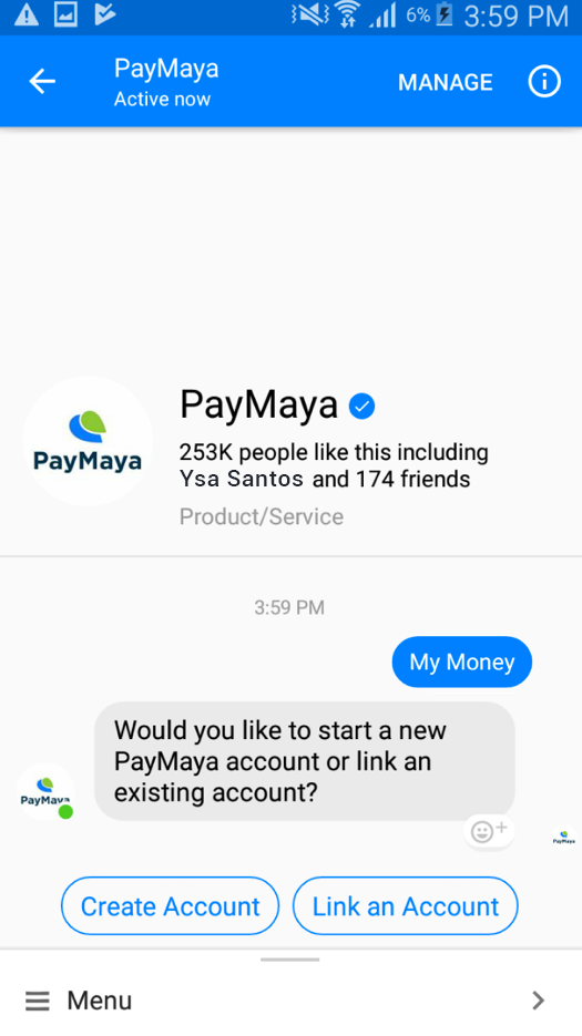 Refer and Earn with PayMaya in Messenger! ~ Rewards and