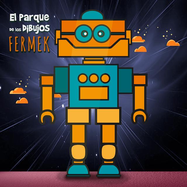 El robot FERMEK de Planeta Pomelo, serie exclusiva de El Parque de los Dibujos