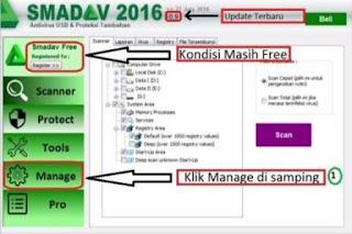 cara memasukkan Nama dan Serial number Smadav Pro Lengkap dengan Gambar