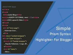 Cara Memasang Syntax Highlighter di Blogspot