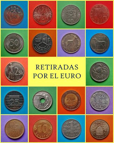 Monedas retiradas por el Euro