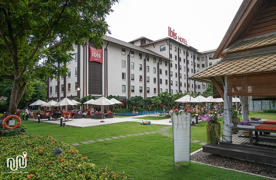 บรรยากาศของโรงแรม Ibis Bangkok Riverside