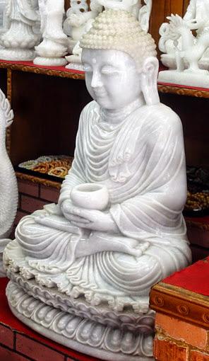 Genuine gem quality white jade Buddha