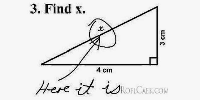 Jawaban absurd dalam ulangan | X