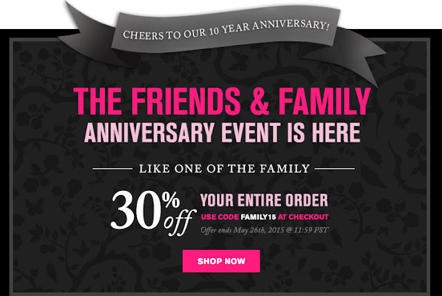 Celebrating 10 Years (at a discounted price)...Butter London Friends & Family Event
