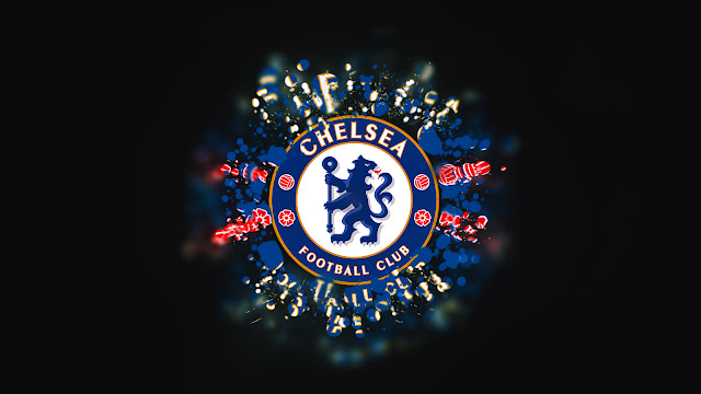 Gallery: In Dark Background Chelsea FC Golden Blue