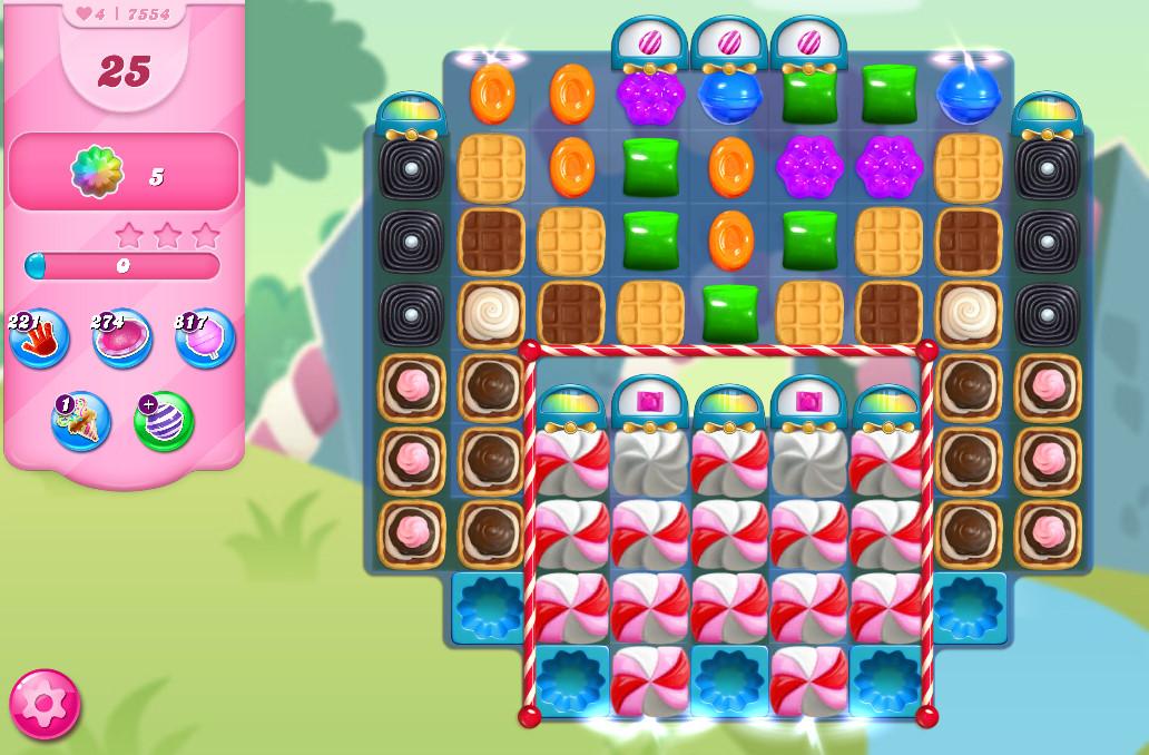 Candy Crush Saga level 7554