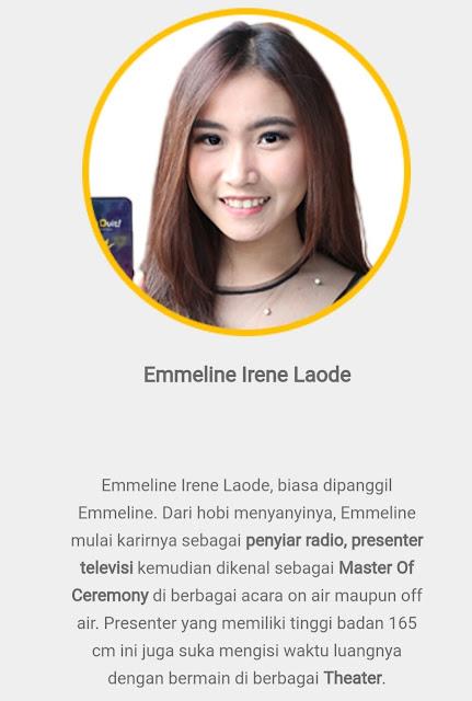 Kuis Duit Live Host - Emmeline Irene Laode