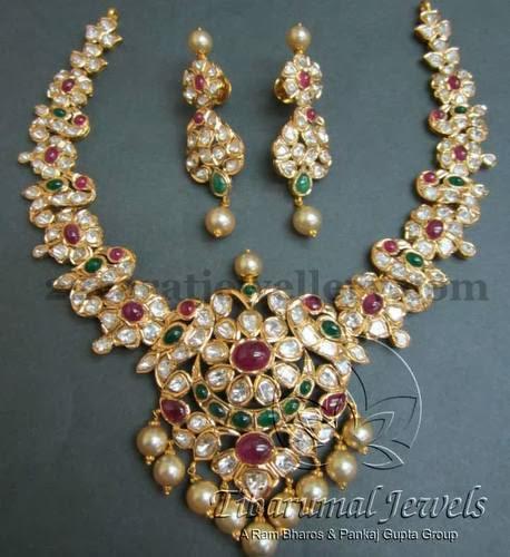 Tibarumal Jewels Latest Pachhi Set Jewellery Designs