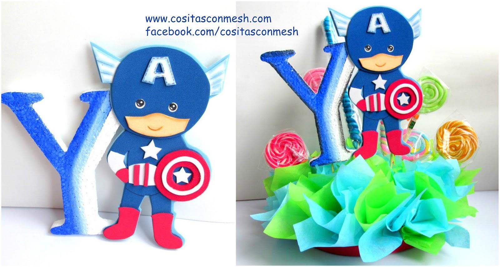 cc2d604de Aprende cómo hacer centros de mesa del capitán América para niños ...