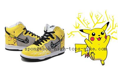 big sale 6db81 2bd15 Pikachu Nike Sneakers Pokemon High Tops Nikes Dunk