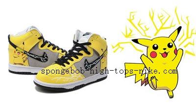 8428dab7fcb6f Cartoon High Tops Nike: Pikachu Nike Sneakers Pokemon High Tops ...