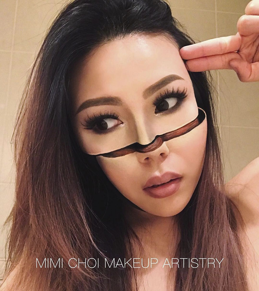 #2 - Woman Gives Up Teaching To Create Optical Illusions With Makeup, And It's Messing With Our Minds